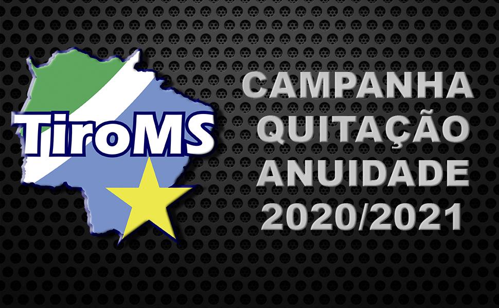 Quitação anuidade 2020-2021